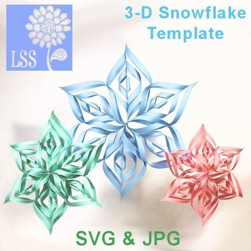 3-D Snowflake SVG SVG Cutting Templates Lindsay's Stamp Stuff    Mygrafico