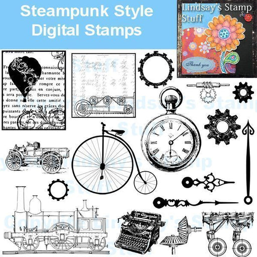 Steampunk Stamps  Lindsay's Stamp Stuff    Mygrafico