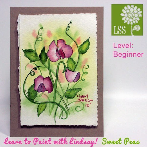 Learn to Paint Sweet Peas Tutorial Lindsay's Stamp Stuff    Mygrafico