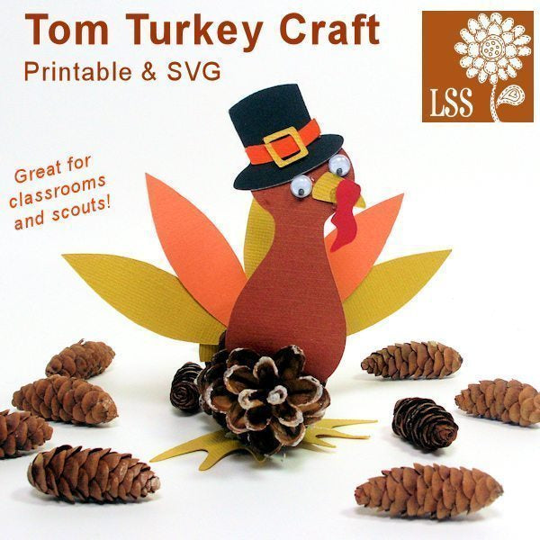 Tom Turkey Craft  Lindsay's Stamp Stuff    Mygrafico