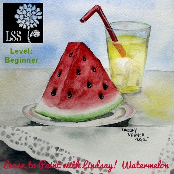 Learn to Paint: Watermelon! Tutorial Lindsay's Stamp Stuff    Mygrafico