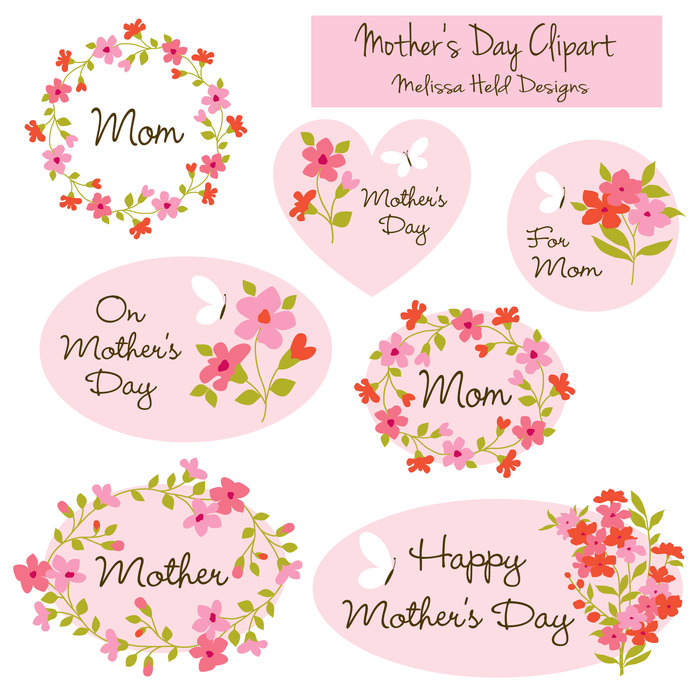 mothers Day Clipart Clipart Melissa Held Designs    Mygrafico