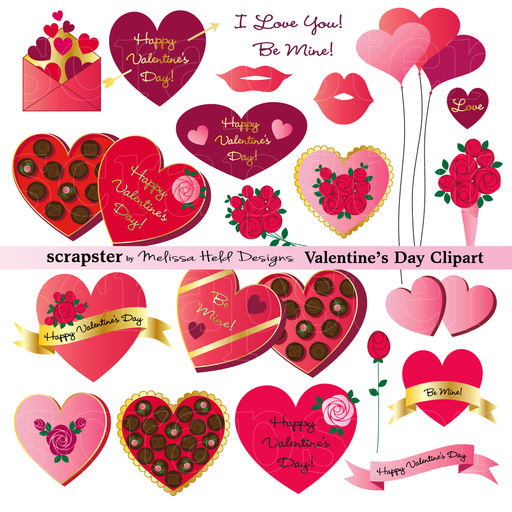 Valentine's Day Clipart Cliparts Melissa Held Designs    Mygrafico