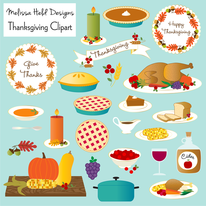 Thanksgiving Food Clipart Clipart Melissa Held Designs    Mygrafico