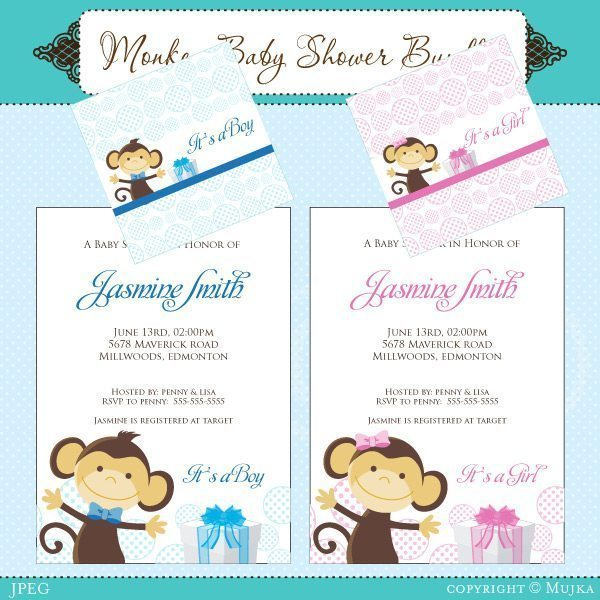 Monkey Baby Shower Bundle  Mujka Chic    Mygrafico
