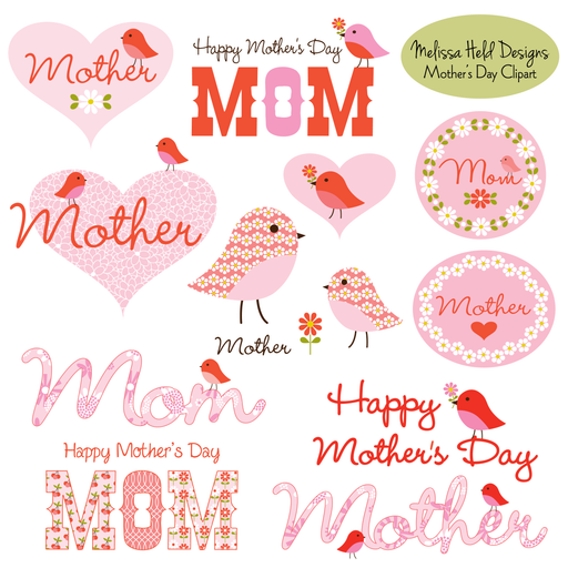 Mother's Day Clipart With Cute Birds Cliparts Melissa Held Designs    Mygrafico