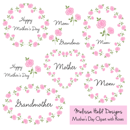 Mother's Day Clipart with Roses Cliparts Melissa Held Designs    Mygrafico