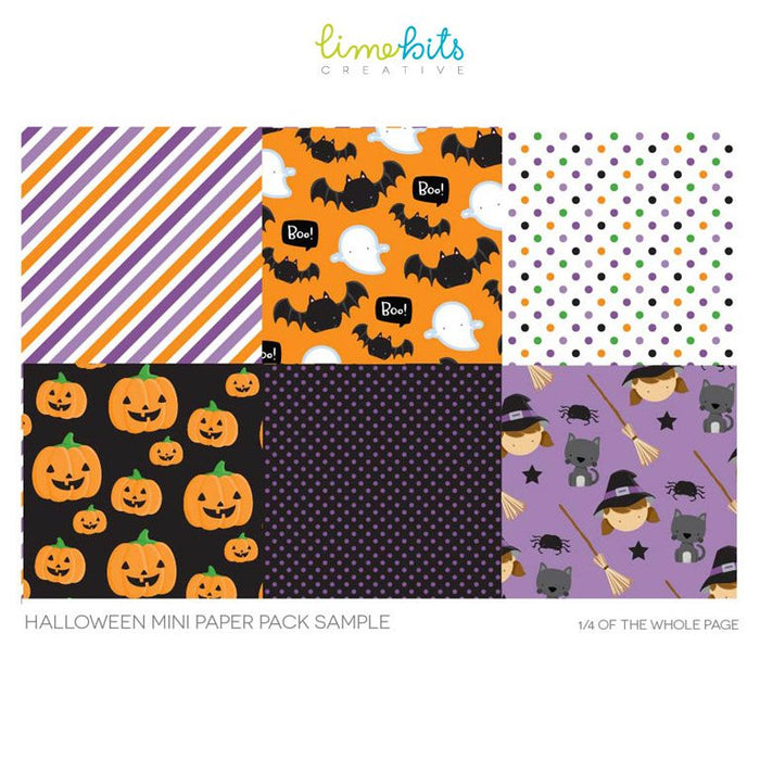 Halloween Digital Paper Digital Papers & Background Lime Bits Creative    Mygrafico