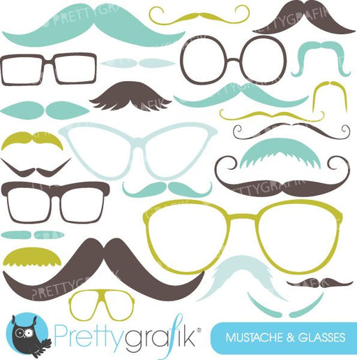 Moustache and Glasses  Prettygrafik    Mygrafico