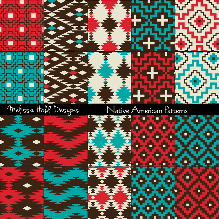 Native American Patterns Digital Papers & Background Melissa Held Designs    Mygrafico