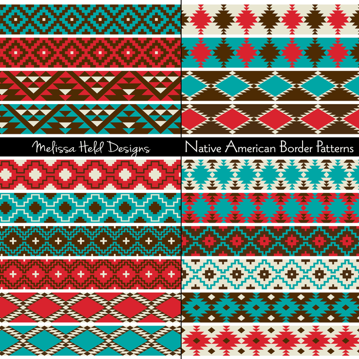 Native American Border Patterns Digital Papers & Backgrounds Melissa Held Designs    Mygrafico