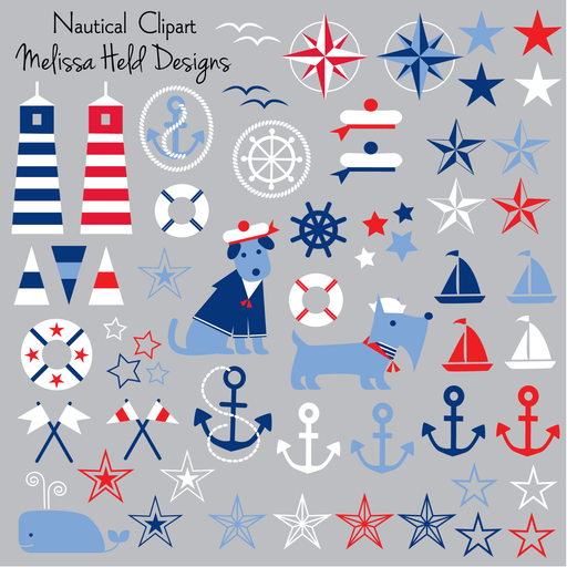 Nautical Clipart Clipart Melissa Held Designs    Mygrafico
