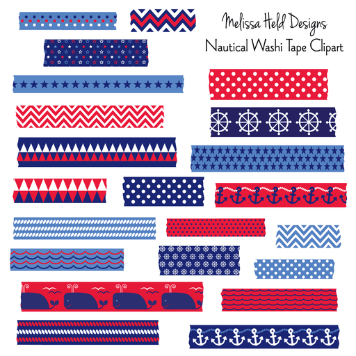 Nautical Washi Tape Clipart Clipart Melissa Held Designs    Mygrafico