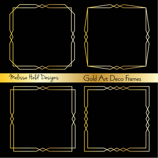 Gold Art Deco Frames Cliparts Melissa Held Designs    Mygrafico