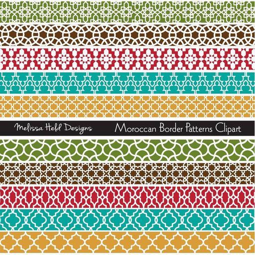 Moroccan Border Patterns  Clipart Cliparts Melissa Held Designs    Mygrafico