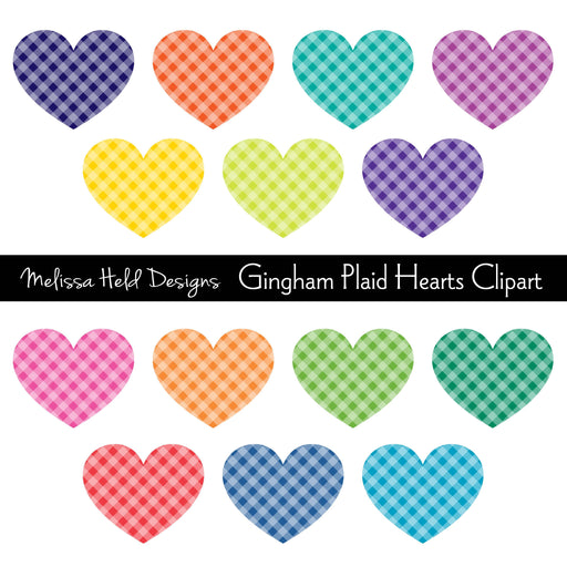 Gingham Plaid Hearts Clipart Cliparts Melissa Held Designs    Mygrafico