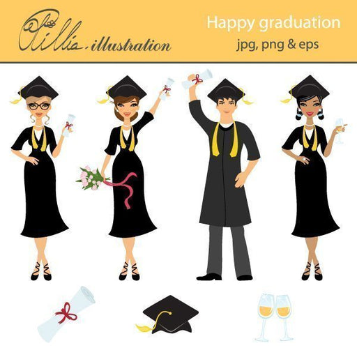 Happy graduation  Olillia Illustration    Mygrafico