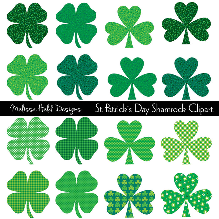 Saint Patrick's Day Shamrock Clipart Cliparts Melissa Held Designs    Mygrafico