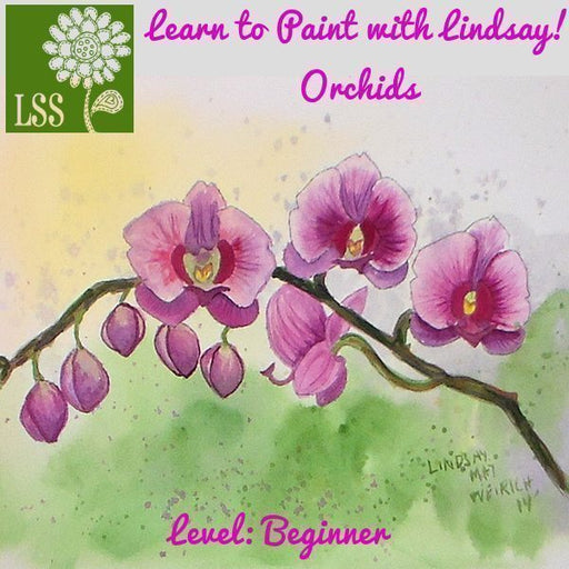 Learn to Paint Orchid Flowers Tutorial Tutorial Lindsay's Stamp Stuff    Mygrafico