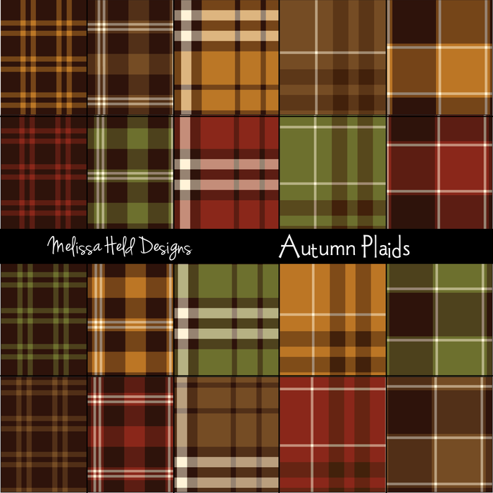 Autumn Plaids Digital Papers & Backgrounds Melissa Held Designs    Mygrafico