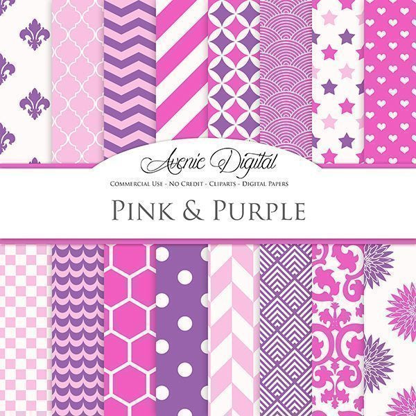 Pink and Purple Digital Paper  Avenie Digital    Mygrafico