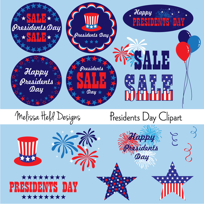 Presidents Day Clipart Clipart Melissa Held Designs    Mygrafico