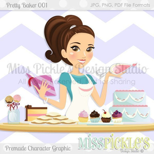 Pretty Baker 001- Character Design  Miss Pickles Design Studio    Mygrafico