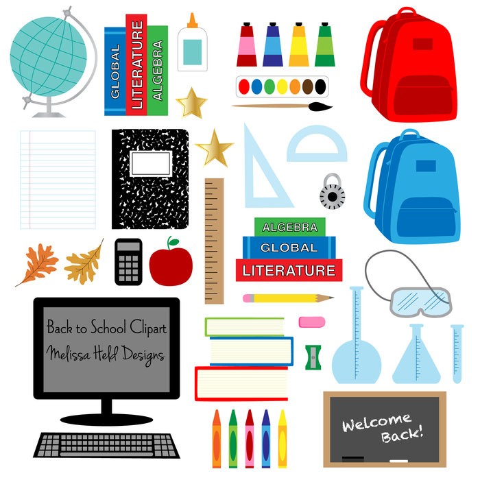 Back to School Clipart Cliparts Melissa Held Designs    Mygrafico