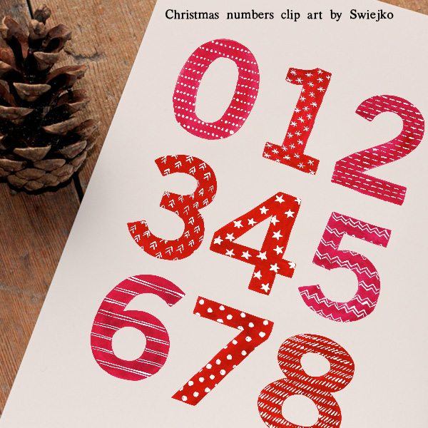 Watercolor Christmas Numbers Cliparts Swiejko    Mygrafico