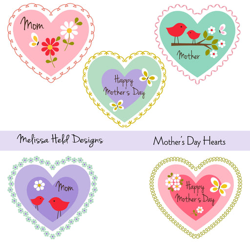 Mother's day hearts Clipart Cliparts Melissa Held Designs    Mygrafico