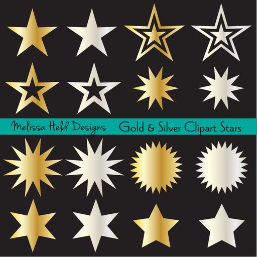 Gold and Silver Clipart Stars Cliparts Melissa Held Designs    Mygrafico