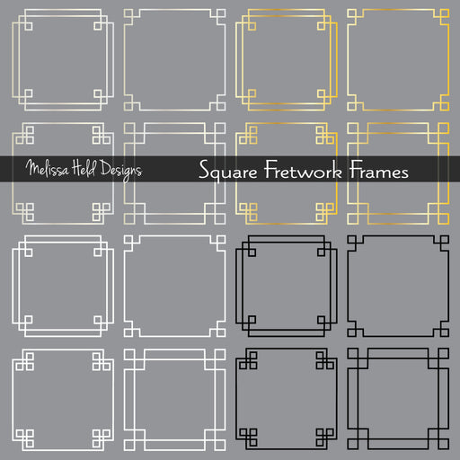 Square Fretwork Frames Cliparts Melissa Held Designs    Mygrafico