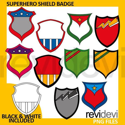 Superhero shield badge clipart Cliparts Revidevi    Mygrafico
