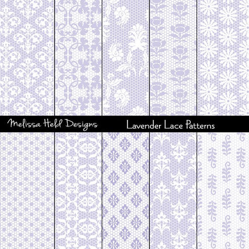 Lavender Lace Patterns Digital Paper & Backgrounds Melissa Held Designs    Mygrafico