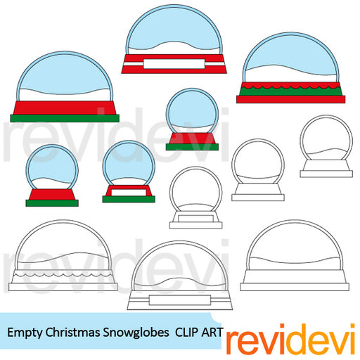 Empty Christmas Snow Globes Clipart  Revidevi    Mygrafico