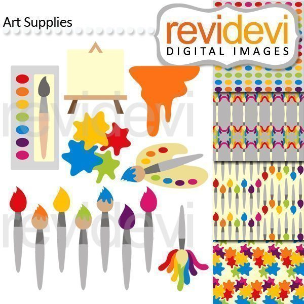 Art Supplies Cliparts  Revidevi    Mygrafico