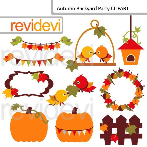 Autumn Backyard Party Clipart  Revidevi    Mygrafico