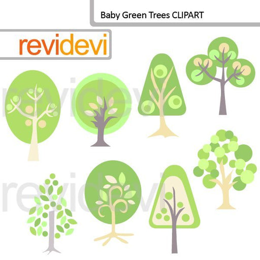 Baby Green Trees Clipart  Revidevi    Mygrafico