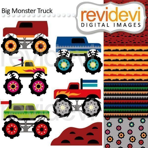 Big Monster Truck Clip arts  Revidevi    Mygrafico