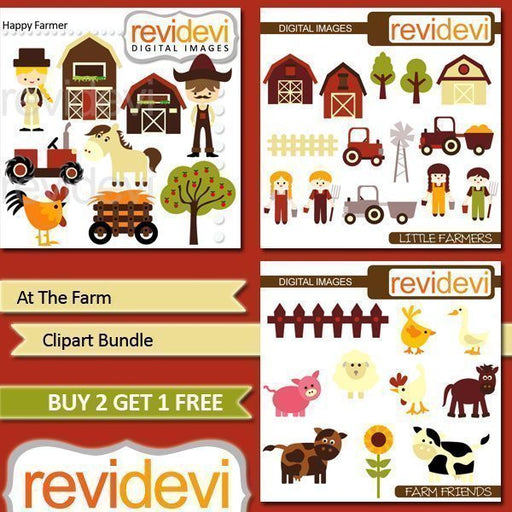 At The Farm Clipart Bundle  Revidevi    Mygrafico