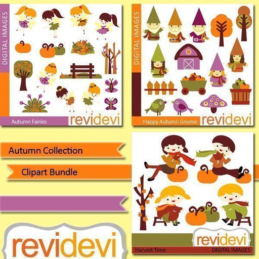 Autumn collection clip art bundle  Revidevi    Mygrafico