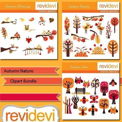 Autumn Nature Clip art  Revidevi    Mygrafico