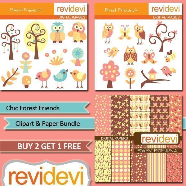Chic Forest Friends Bundle  Revidevi    Mygrafico