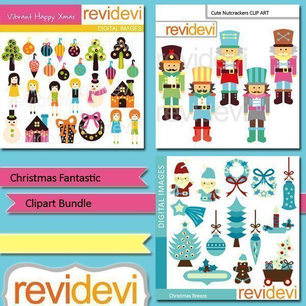 Christmas Fantastic clip art bundle  Revidevi    Mygrafico