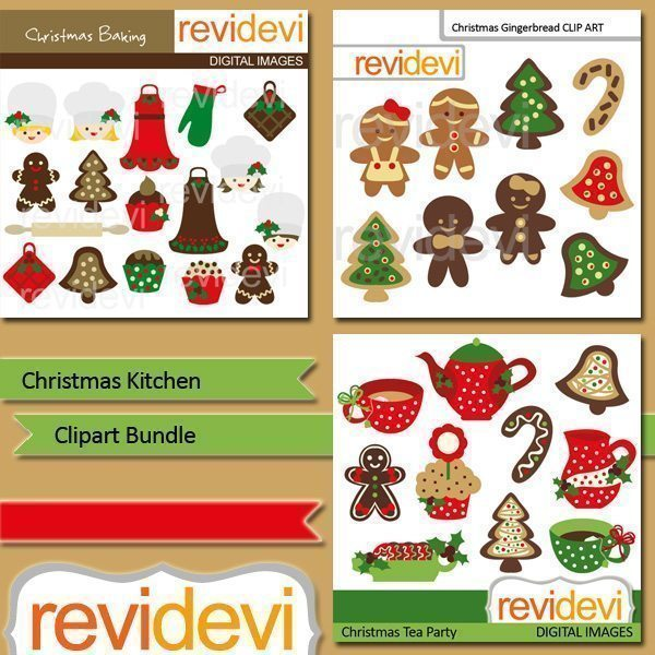 Christmas Kitchen clip art bundle  Revidevi    Mygrafico