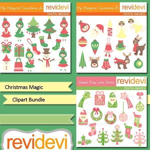 Christmas Magic Clip Art bundle  Revidevi    Mygrafico