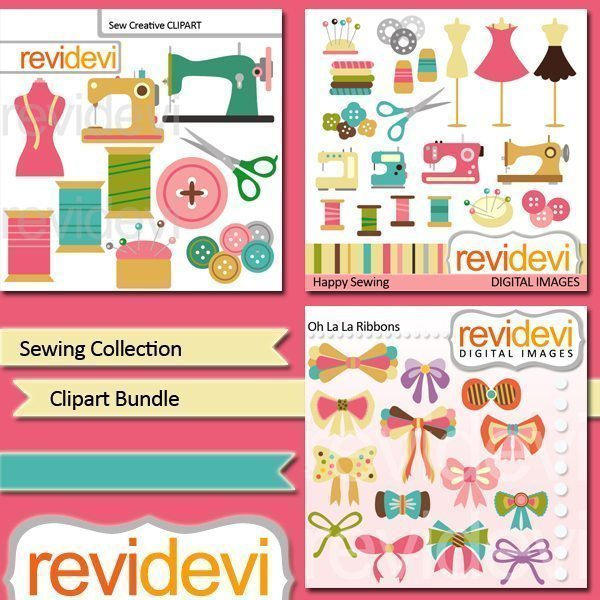 Sewing collection clipart bundle  Revidevi    Mygrafico