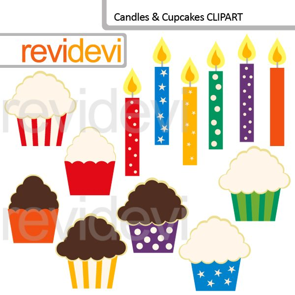 Candles and Cupcakes clipart  Revidevi    Mygrafico