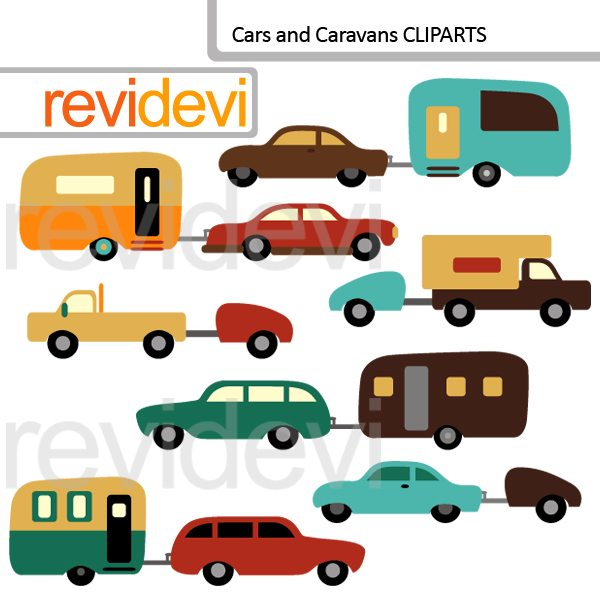 Cars and Caravans Cliparts