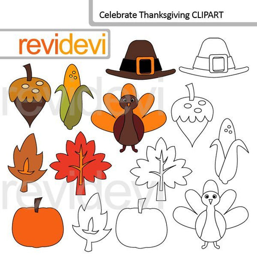 Celebrate Thanksgiving clip art  Revidevi    Mygrafico